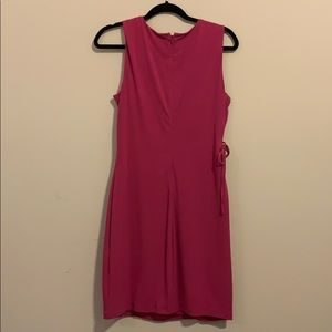 Dresses - Sleeveless pink gold ray dress